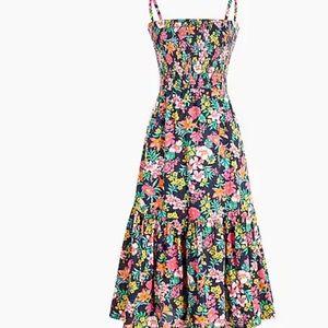 NWT J.Crew Smocked-Top Cotton Midi Dress, 3x